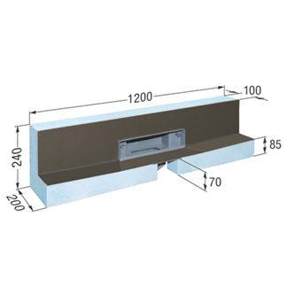 5.Με Βάση Εγκατάστασης 1200x200 mm
